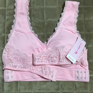 ナイトブラ  3段ホック付き   XLサイズ   ピンク(ブラ)