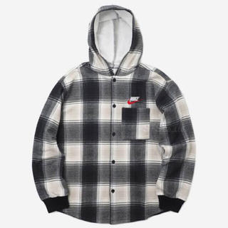 シュプリーム(Supreme)のsupreme nike plaid hooded sweatshirt(パーカー)