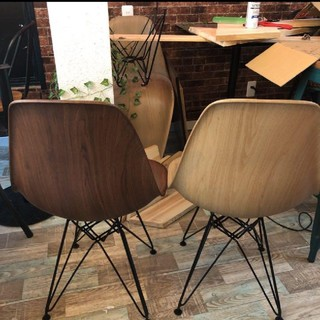 EAMES - イームズチェア リプロダクト 木目 ブラウン 北欧 椅子 ダイニングチェア