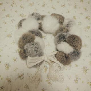 ファーファー(fur fur)のfurfur ♡ファーポンポンマフラー(マフラー/ショール)