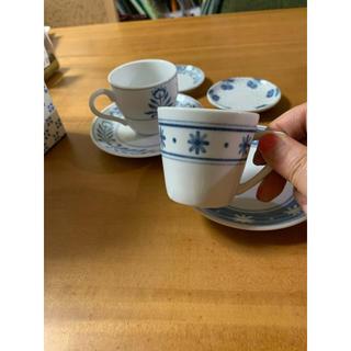 フェリシモ(FELISSIMO)のフェリシモのデミタスカップ二個と小皿(食器)