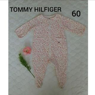 トミーヒルフィガー(TOMMY HILFIGER)のTOMMY HILFIGER ピンク花柄 ロンパース 3-6m 60センチ(ロンパース)