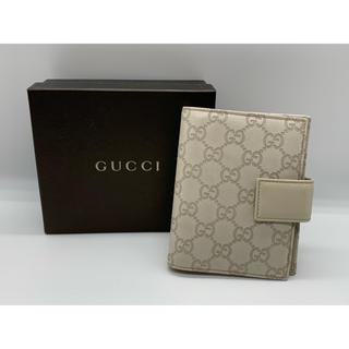 Gucci - GUCCI グッチシマ 手帳カバー 6穴 オフホワイト 115240-0416