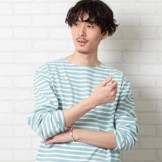 コーエン(coen)の新品coen(ユナイテッドアローズグループ)ボーダーボートネックTシャツXL  (Tシャツ/カットソー(七分/長袖))