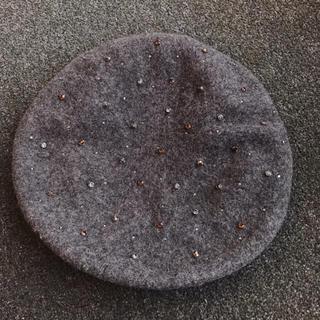ザラ(ZARA)のザラ ベレー帽 グレー(ハンチング/ベレー帽)