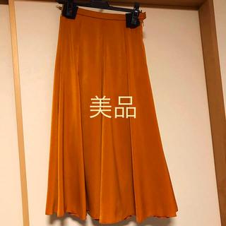 ルーニィ(LOUNIE)のルーニィ  サテンフレアスカート オレンジ(その他)