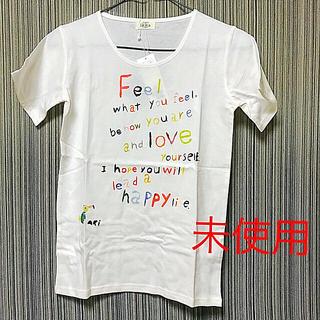 イッカ(ikka)のikka ロゴ Tシャツ 白 ホワイト カラフル(Tシャツ/カットソー)