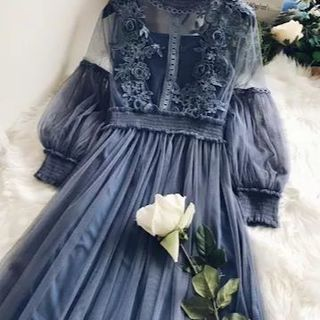 ディーホリック(dholic)のドレス透けワンピース(ロングワンピース/マキシワンピース)