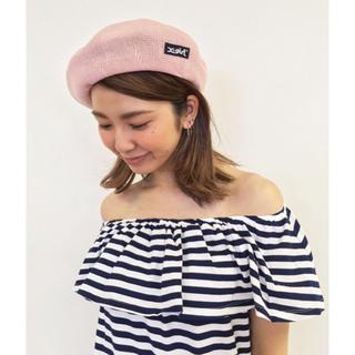 エックスガール(X-girl)のX-girl ベレー帽 ピンク / ONE SIZE(ハンチング/ベレー帽)