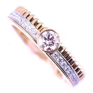 ブシュロン(BOUCHERON)のブシュロン キャトル ソリテール ダイヤモンド リング 指輪 K18 YG WG(リング(指輪))