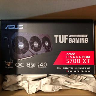 エイスース(ASUS)のalさま 新品未開封 ASUS RX5700XT搭載 8G トリプルファンモデル(PC周辺機器)