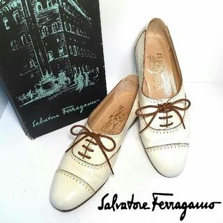 サルヴァトーレフェラガモ(Salvatore Ferragamo)のSalvatore Ferragamo☆ フェラガモ☆ブローグシューズ(ローファー/革靴)