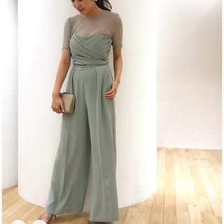 ラグナムーン(LagunaMoon)のラグナムーン LADY クロスベアパンツドレス(その他ドレス)