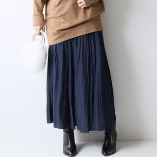 スピックアンドスパン(Spick and Span)のギャザースカート (ロングスカート)