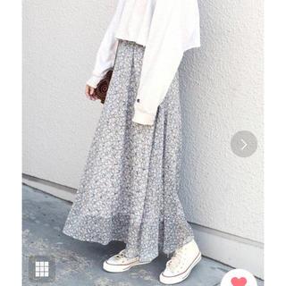 カージュ(Khaju)のカージュ シップス フラワープリントロングスカート フレアスカート シップス(ロングスカート)