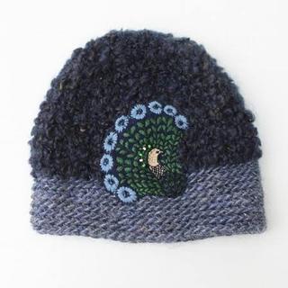 ミナペルホネン(mina perhonen)のヒトミシノヤマ×ミナペルホネン ニット帽(ニット帽/ビーニー)
