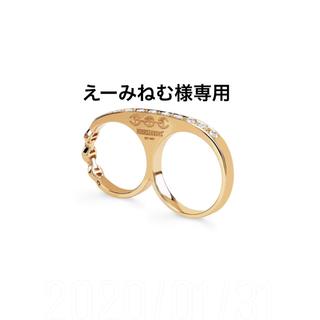 HOORSENBUHS 18K フルダイヤモンド knuckle ring(リング(指輪))