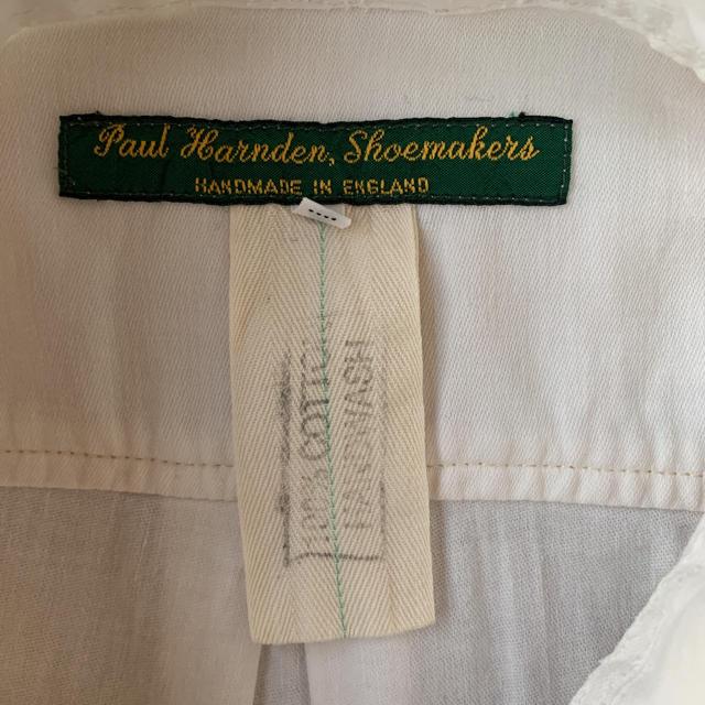 Paul Harnden(ポールハーデン)のポールハーデン 白シャツ キナリ  イギリス製 メンズのトップス(シャツ)の商品写真