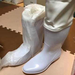アキレス(Achilles)のAchilles 白 長靴 カバー付(長靴/レインシューズ)
