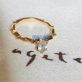 アガット(agete)のアガット ムーンストーン ピンキーリング(リング(指輪))