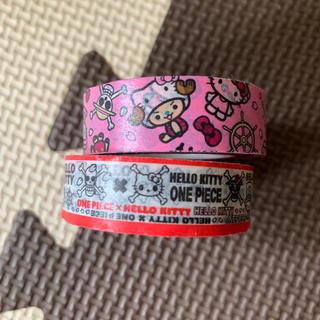 ハローキティ(ハローキティ)のマスキングテープ ワンピース×キティーちゃんコラボ2個セット【未使用】(テープ/マスキングテープ)
