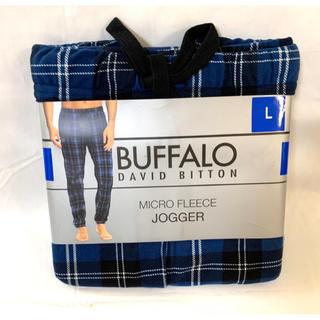 バッファロー(Buffalo)の新品■BUFFALO メンズ フリース パンツ Lサイズ パジャマ ルームウエア(その他)