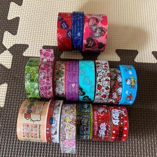 ハローキティ(ハローキティ)のマスキングテープ キティーちゃん19個セット(テープ/マスキングテープ)