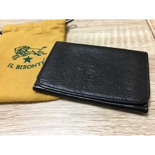 イルビゾンテ(IL BISONTE)の期間限定価格◆イルビゾンテ 正規品 イタリアンレザー  カードケース ブラック(名刺入れ/定期入れ)