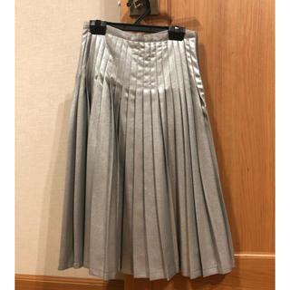 ムルーア(MURUA)のMURUA シルバープリーツスカート(ひざ丈スカート)