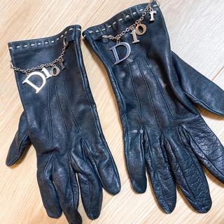 クリスチャンディオール(Christian Dior)のDior ラムスキン ブラック手袋(手袋)
