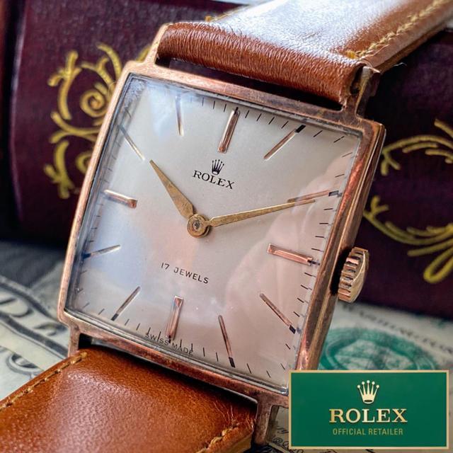 エルメス コピー 品 、 ROLEX - 【豪華】ROLEX ★ ロレックス タンク 14KGP 手巻き腕時計 スクエアの通販