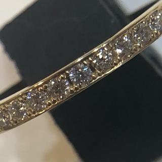 K18イエローゴールド ダイヤモンドハーフエタニティリング(リング(指輪))