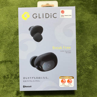 ソフトバンク(Softbank)の完全ワイヤレスイヤホン GLIDiC ブラック(ヘッドフォン/イヤフォン)