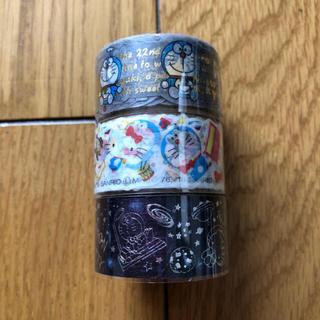ハローキティ(ハローキティ)のドラえもん キティ コラボ マスキングテープ 3本セット(テープ/マスキングテープ)