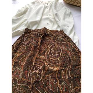 ロキエ(Lochie)の美品 ペイズリー アンティーク スカート (ひざ丈スカート)