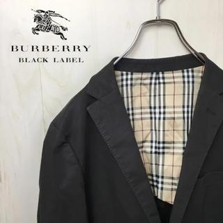 BURBERRY BLACK LABEL - 0296 バーバリー テーラードジャケット ブラック
