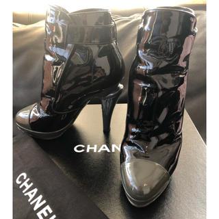 シャネル(CHANEL)のCHANEL デザイン ブーツ 美USED 361/2(ブーツ)