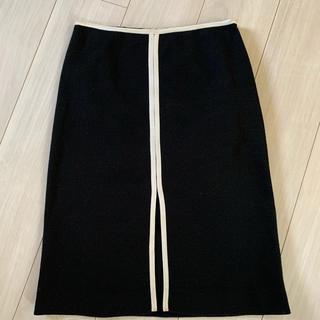 イブルース(IBLUES)のi BLUES スリットスカート ブラック(ひざ丈スカート)