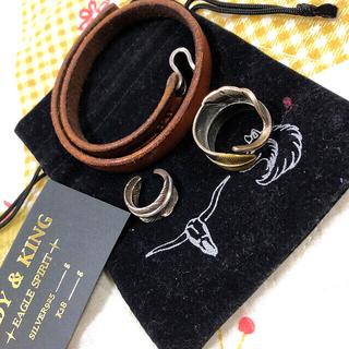 ゴローズ(goro's)のTADY&KINGフェザーリング ブレスレット3セット(リング(指輪))
