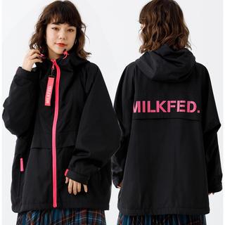 ミルクフェド(MILKFED.)の新品♡ミルクフェド オーバーサイズブルゾン ロゴチャーム付 春アウター ピンク(ブルゾン)