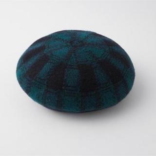 moussy - moussy ベレー帽 チェック パイピング