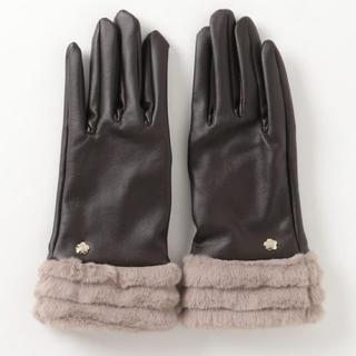 MARY QUANT - 新品 マリークワント  ラインファーグローブ 手袋 ブラウン