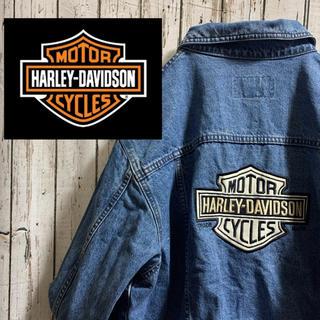 ハーレーダビッドソン(Harley Davidson)の希少 ハーレー デカロゴ ヴィンテージ デニムジャケット(Gジャン/デニムジャケット)