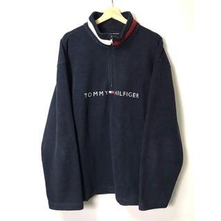 トミーヒルフィガー(TOMMY HILFIGER)の【H】トミーヒルフィガー ロゴ刺繍 ネックロゴ フリースジャケット XL(その他)