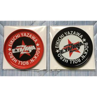 ヤザワコーポレーション(Yazawa)の矢沢永吉 E.YAZAWA ブリキコースター ロゴ星 ブラック&レッド(ミュージシャン)