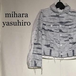 mihara yasuhiro ホワイト ダメージ gジャン ペンキ 加工