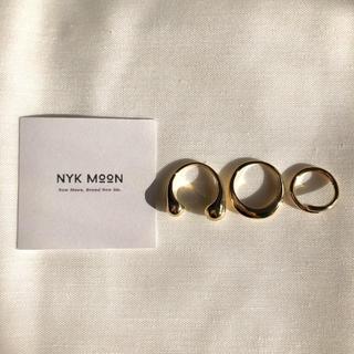 【新作❤︎即日発送可】plumpest design ring set ゴールド(リング(指輪))