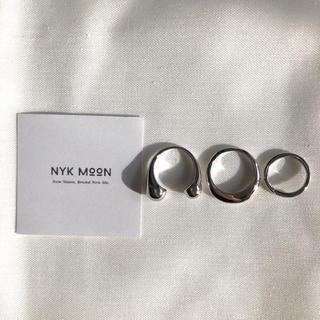 【新作❤︎即日発送可】plumpest design ring set シルバー(リング(指輪))
