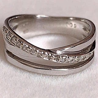 k18 WG ダイヤモンド ピンキーリング(リング(指輪))