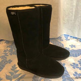 エミュー(EMU)の正規品•室内使用美品★emuエミュー  ムートンロングブーツ  黒26cm ★(ブーツ)
